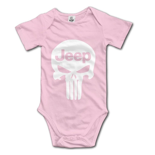 3250bb0c2 IEEFTA Punisher Skull Jeep Baby Climbing Clothes Bodysuit