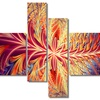 In Sync - Large Contemporary Canvas Art - 63x32 - 4 Panels