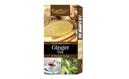 KimBees Ceylon Ginger Black Tea (28 individual tea bags)