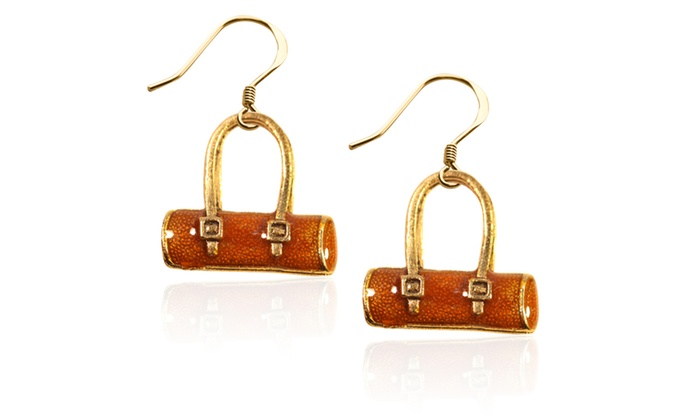 Tube Purse Charm Earrings In Gold Groupon
