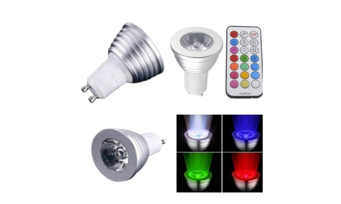 3W 16 Color RGB LED Light Spot Party Lamp Bulb And IR Remote Control