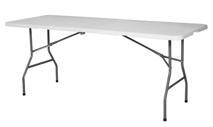 Up To 50 Off On 6 Plastic Folding Table Port Groupon