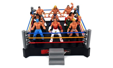 VT Mini Combat Action Wrestling Toy Figure Play Set w/ Ring, 8 Toy Figures 014a0491-eb87-46ea-a4b5-6c8110ea5891