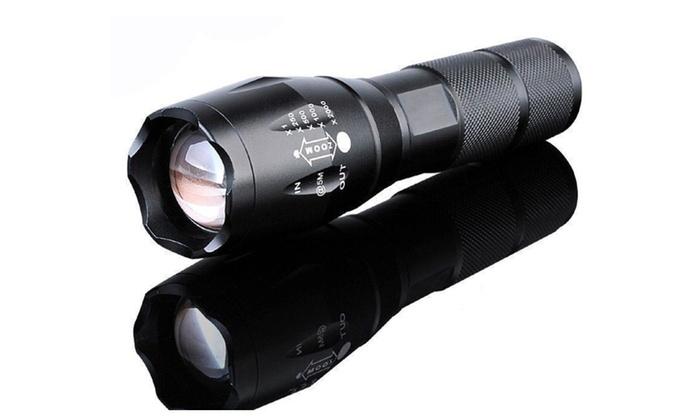 9000Lumen 5-Mode Zoomable XML T6 LED 18650 Flashlight