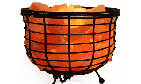 """8"""" Himalayan Wired Basket Lamp with Natural Rocks and Dimmer a2817fbd-3d85-4b6f-a46e-f15405f18422"""