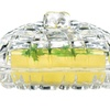 Premium Heavy Duty Glass Butter/Cheese Fruit Pastry 6.7 inch Tray
