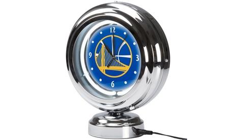 NBA Chrome Retro Style Tabletop Neon Clock eb9a9da8-993e-4e7e-aaeb-cbb06a5bbf52