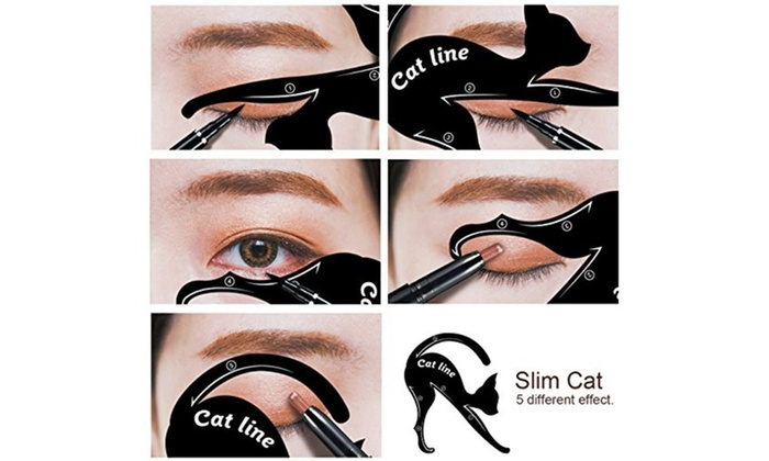 Up To Off On Cat Eyeliner Template Applicator Groupon Goods - Eyeshadow template