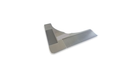 Beard Template Comb for Shaping & Styling by Primal Stainless Steel c4426a48-15cc-422a-b66f-9f2aeb9b7a9c