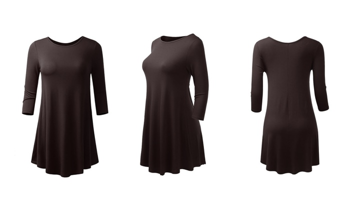 Women's 3/4 Sleeve Tunic Made in USA