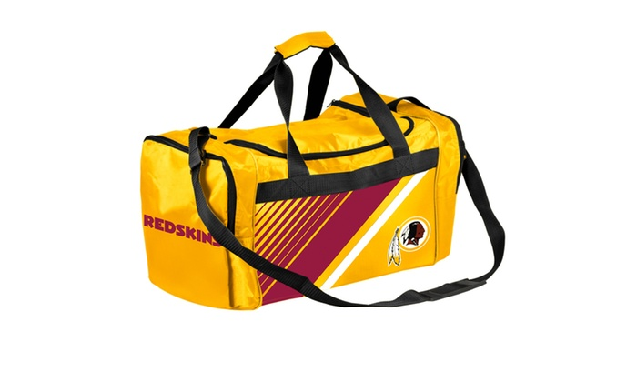 10ca12795a05 Forever Collectibles - NFL Border Stripe Duffle Bag