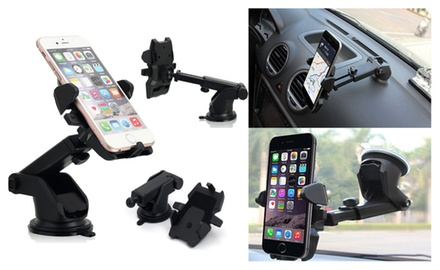 Car Windshield Dash Mount, 360° Universal Cell Phone Car Holder Cradle