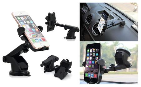 Car Windshield Dash Mount, 360° Universal Cell Phone Car Holder Cradle