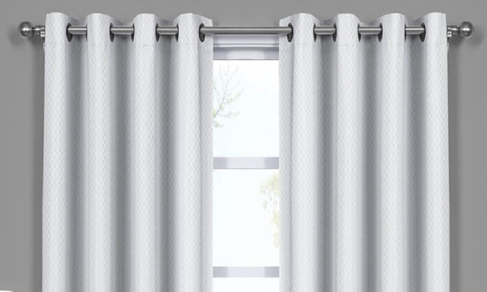 Pair Set Of 2 100 Blackout Triple Layered Wide Curtain Panels