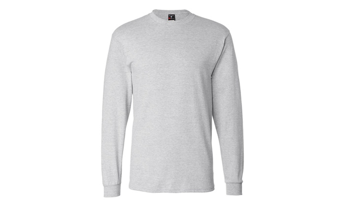 Hanes Long Sleeve Beety T-Shirt, 5186