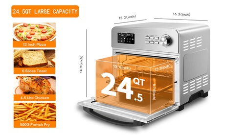 24 QT Geek Chef Air Fryer Oven: Nice Household Small Appliances Quality Goods photo