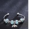 Lucky Elephant Swirl Murano Glass Swarovski Elements Cuff Bangle - Four Options