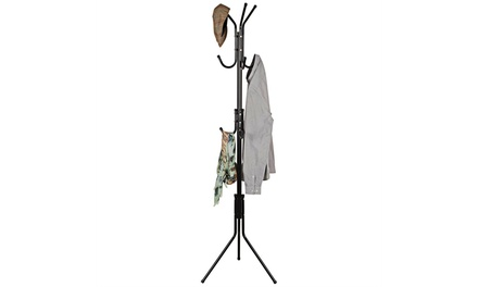 Basics Hardware Metal Coat Rack 9- Hook Coat Hanger (Coat Rack)