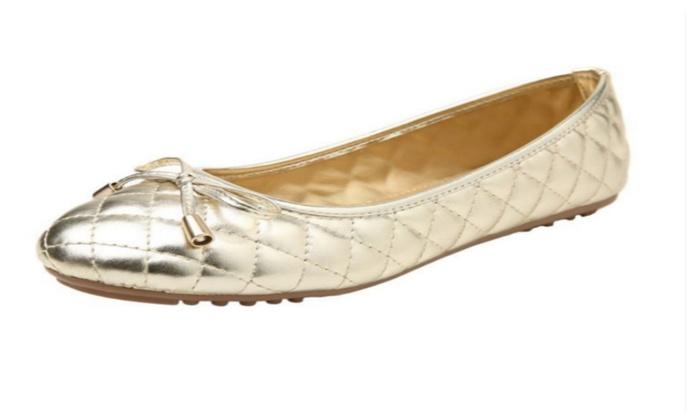 Women's Pu Leather Closed Toe Ballet Flats