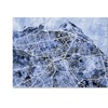 Michael Tompsett 'Edinburgh Street Map BW' Canvas Art