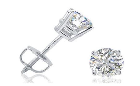 I.G.L Certified 1/2 CTTW Diamond SI2 Stud Earrings Set in 14K Gold