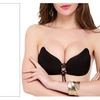 Adhesive Silicone Invisible Push-up Bra for Women Black