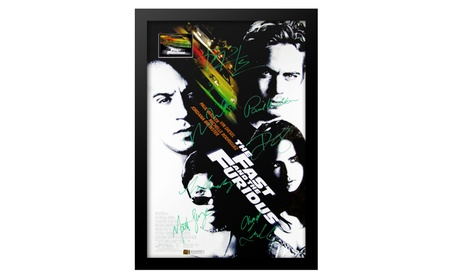 The Fast and The Furious Movie Poster - Signed by Cast Framed 206f095b-84d8-485a-93bb-b1918f94b86f