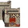 Zodaca Women Bag PU Leather Crossbody Satchel Shoulder Handbag Brown
