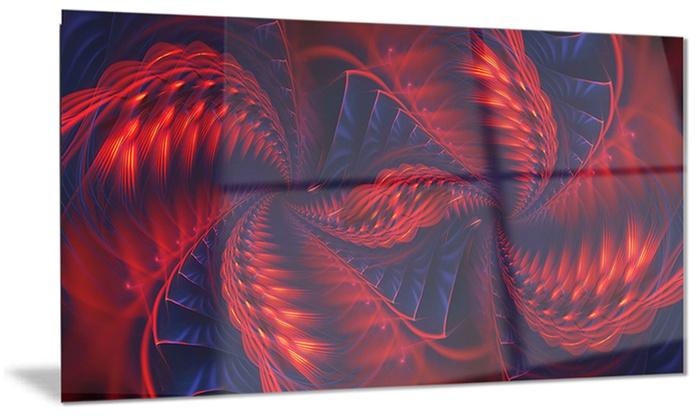 Kaleidoscope Metal Wall Art 28x12 | Groupon
