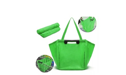 Convenient Folding Shopping-Cart Bag (1-, 2-, or 3-Pack)