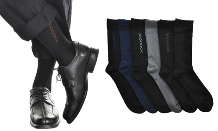 Men's Cotton Dress Socks in Solid Colors or Assorted Designs