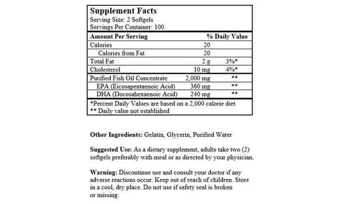 Alaska deep sea fish oil 200 softgels 1 000 mg groupon for Groupon deep sea fishing