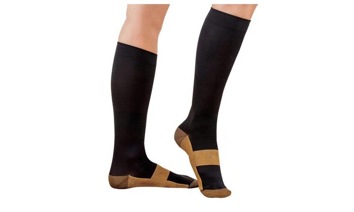 2-Pack Copper Infused Compression Socks