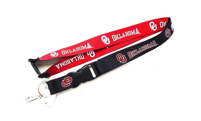 Oklahoma Sooners Reversible Lanyard Keychain Ticket ID Holder NCAA