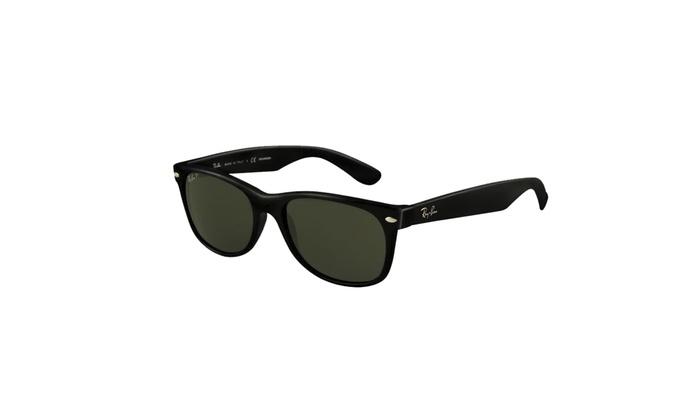 9fb046a30b51 Ray-Ban New Wayfarer Classic Sunglasses (Black Green Classic G-15) Black  N A Plastic