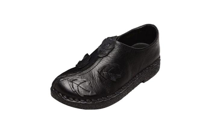 Women's Leather Slip-On Sneaker