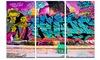 Street Art Melbourne Graffiti Metal Wall Art 36x28 3 Panels