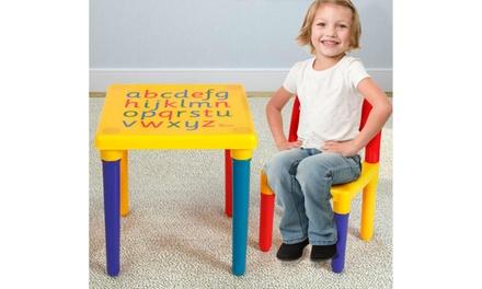 Children Letter Table Chair Set