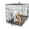 """48"""" dog crate 2-door w/divider w/tray fold metal pet cage kennel house"""
