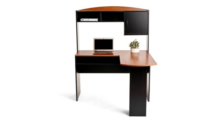 mainstays l shaped desk with hutch multiple colors groupon rh groupon com mainstays l shaped desk with hutch dimensions mainstays l-shaped desk with hutch multiple finishes