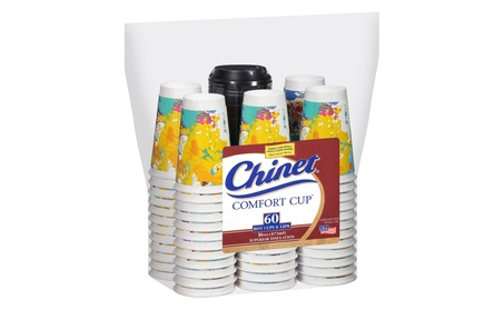 Chinet Comfort Cup 16-Ounce Cups, 50-Count Cups & Lids (Assorted Color 421cf489-2d01-4a8b-83b8-6e6176e689dd