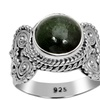 Orchid Jewelry 925 Sterling Silver 4 3/5 Ctw Chrome Diopside Ring