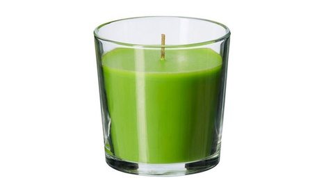Scented Candle In Glass With A Pleasant Scent of Green Apple f400744a-9e1c-4f40-b4b6-7aa9287c2216