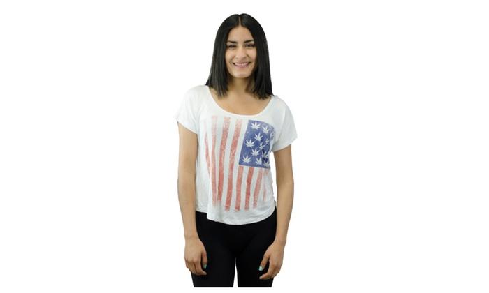 America Flag Pot Leaf for Stars Shirt