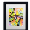 Dean Russo 'Abstract' Matted Black Framed Art