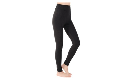 Black High Waist Women's Solid Leggings Yoga Pants Workout c66bb093-9061-4359-a506-f4482cc65d8f