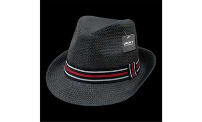 Shop Groupon Decky 530-PAP-BLK-06 Paper Straw Fedora Hat Black - Small   df9e6569e651