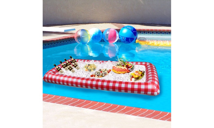 Up To Off On Inflatable Picnic Buffet Cooler Groupon Goods - Inflatable picnic table