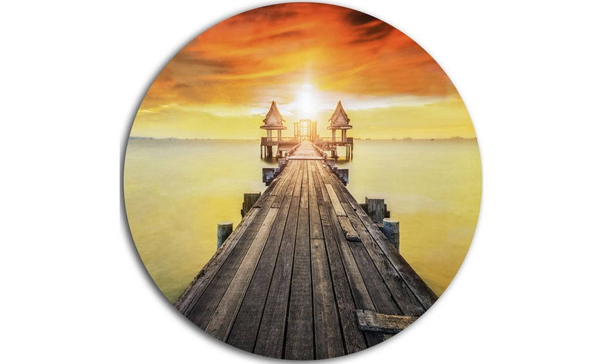 Up To 7 Off On Huge Wooden Pier Into Yellow Groupon Goods