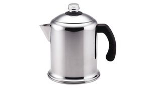 Farberware 50124 Yosemite Coffee Percolator, Stainless Steel, 8 Cups